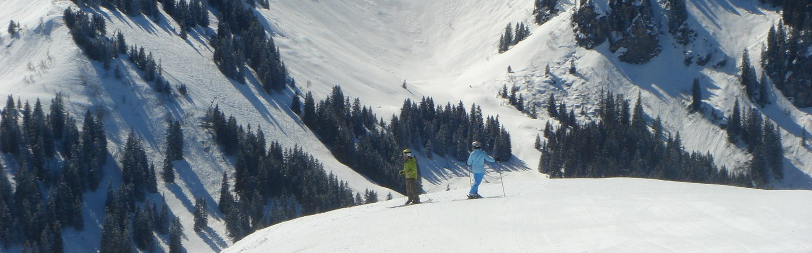 Chillout Mountain skiers atop