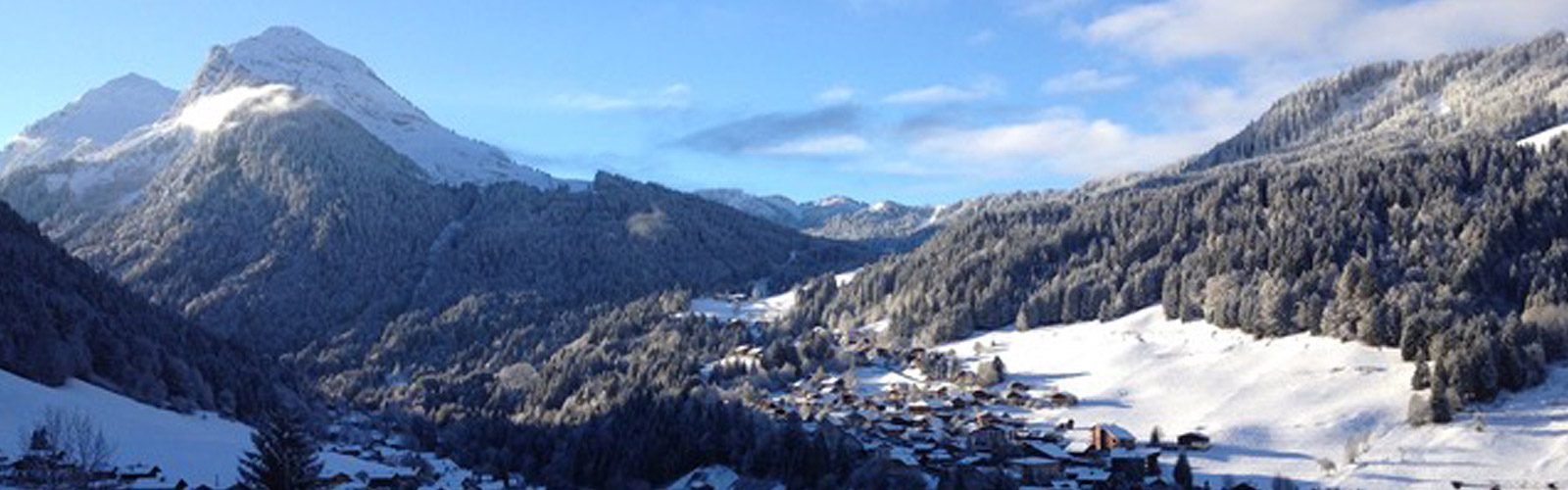 Morzine town down below