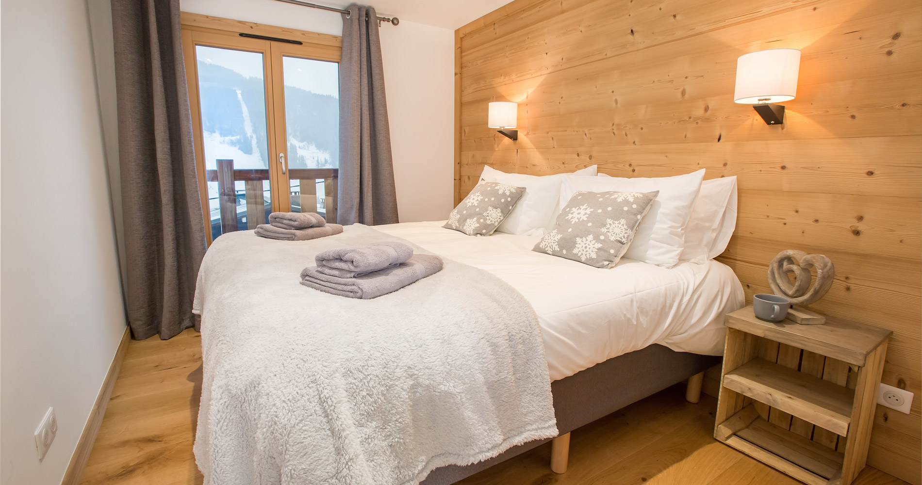 Chalet Perdix double bedroom