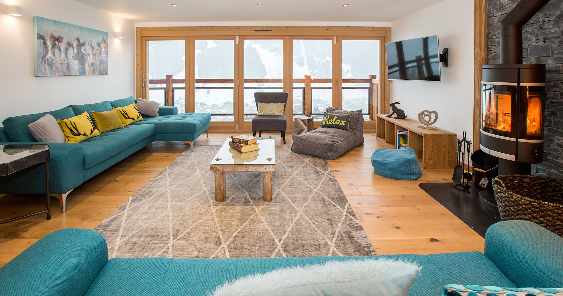 Chalet Perdix living lounge area