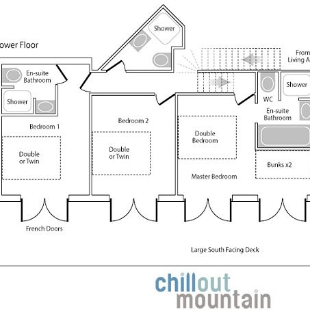 Chalet Caché lower floor plan