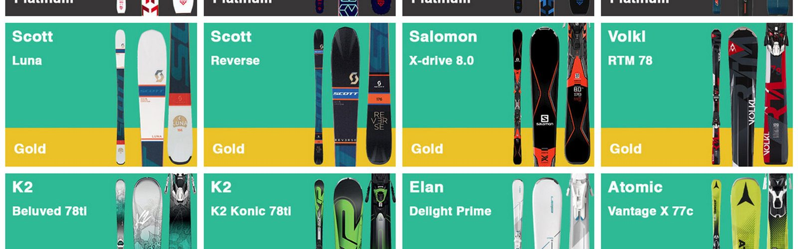 AMR Ski Hire selection