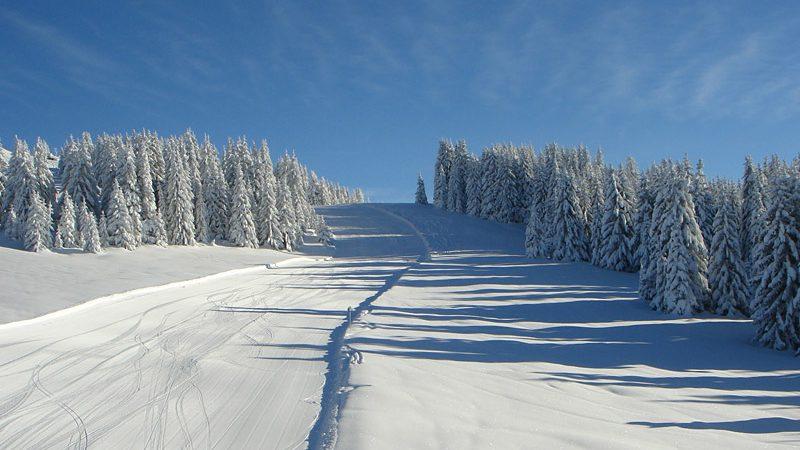 snow ski run